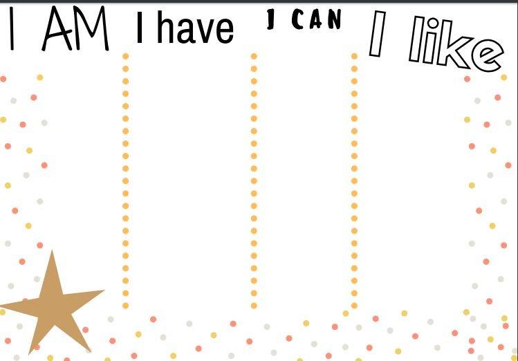 I am-I have-I like-I can.